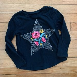 Old Navy 4T graphic black long sleeve T-shirt